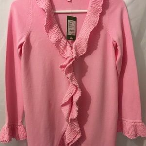 NWT Lilly Pulitzer Pink Girls Coat Sweater